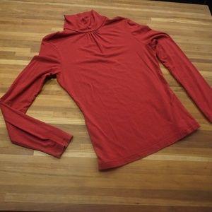 Merona Red long sleeve mock turtle neck